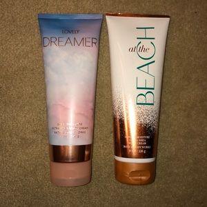 2 NWT bath and body works body cream